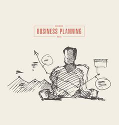 sketch process business planning man sketch vector image