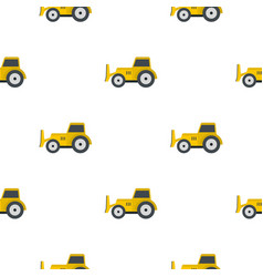 Skid steer loader pattern flat vector