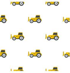 skid steer loader pattern flat vector image