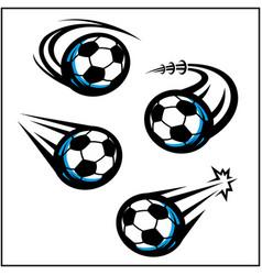 Soccer swoosh set 4 vector