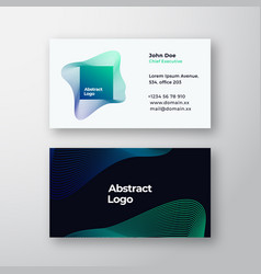 square blend emblem abstract sign or logo vector image