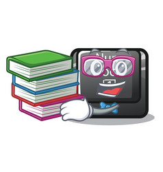 Student with book num lock on a keyboard mascot vector