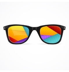 Sunglasses rainbow abstract background vector