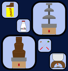 sweet gadgets icons set vector image