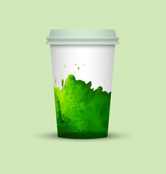 Takeaway coffee cup template vector