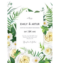 tender floral wedding invite save date card vector image