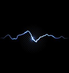 thunder spark electric flash background vector image