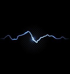 Thunder spark electric flash background vector