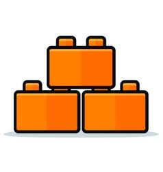 Toy blocks icon design vector