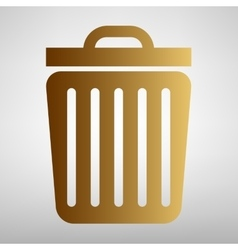Trash sign Flat style icon vector image