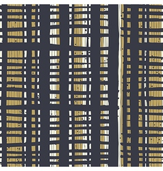 Vertical lines and dots on bold golden stripes vector image