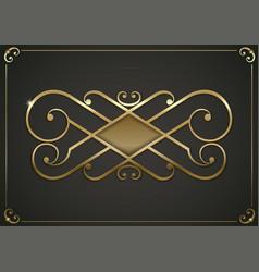 Vintage gold vignette vector