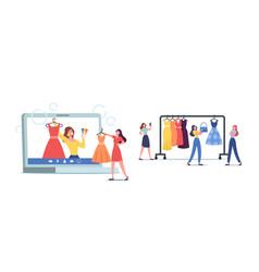 wardrobe consultant on laptop screen advice vector image