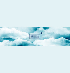 watercolor blue and white sky vector image