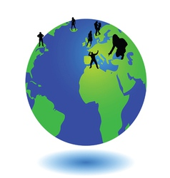 world and the people on it vector image