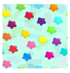 Colored stains of paint seamless pattern vector image