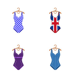 different kinds of swimsuits swimsuits set vector image vector image