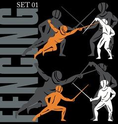 fencing set vector image