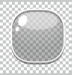 Glass button games template vector image vector image