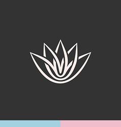 Lotus flower silhouette logo vector image vector image