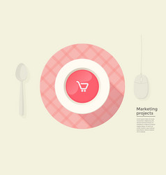 marketing project in circle vector image