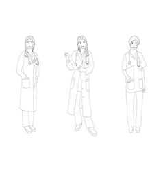 Medical Staff Woman Full Body vector image vector image