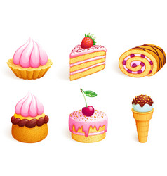 sweet icons vector image vector image