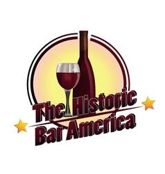 The historic bar america vector