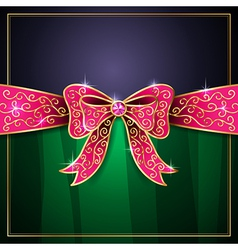 jewel bow card vector image vector image
