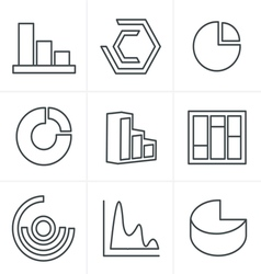 Line Icons Style Simple set of diagram and graphs vector image