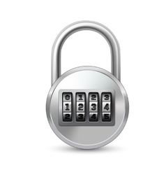 Realistic lock with combination code vector image vector image