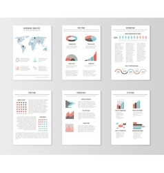 Set of templates for business brochures web pages vector image vector image