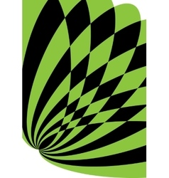 Black and green background for brochure or cover vector image