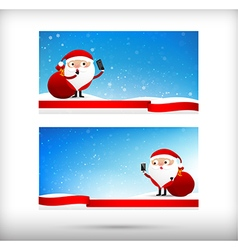 Collection of merry christmas card template with vector image vector image