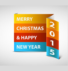 original new year 2015 card vector image vector image