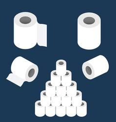 toilet paper roll set vector image
