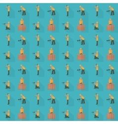 Construction worker seamless pattern Design vector image