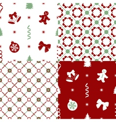 patterns with set decorations vector image