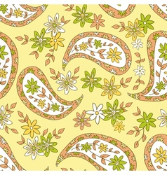 Summer ethnic seamless pattern vector image