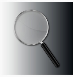 transparent magnify glass vector image vector image