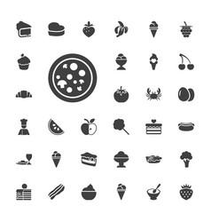 33 delicious icons vector