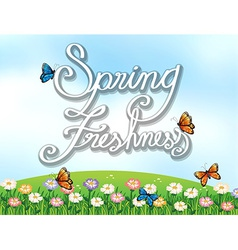 A spring freshness template vector