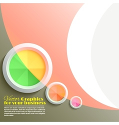 Abstract 3D circle vector image