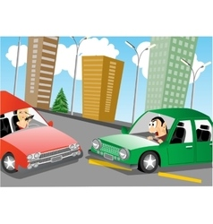 Accident on the road vector