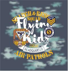 air patrol flying kids crew vector image