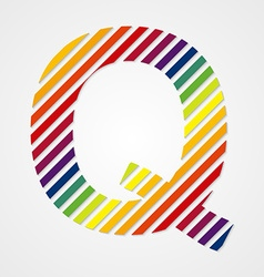 Alphabet Letter Q vector