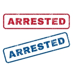 Arrested Rubber Stamps vector image