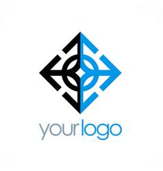Arrow geometry business logo vector