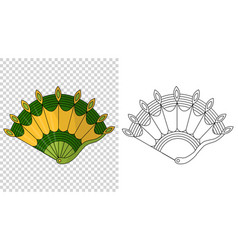 asian fans colored hand traditional fan isolated vector image