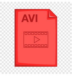 Avi file icon cartoon style vector